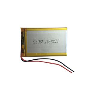 3.7V 504975-2500mAh RFID读写手持终端电池