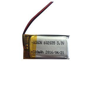3.7V 602035-300mAh 智能感应灯电池